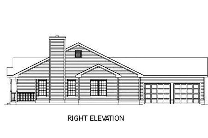 Farmhouse Exterior - Other Elevation Plan #57-117 - Houseplans.com