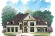 European Style House Plan - 4 Beds 4 Baths 3720 Sq/Ft Plan #119-215 Exterior - Front Elevation