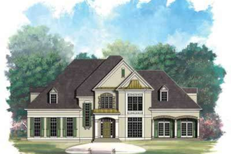European Exterior - Front Elevation Plan #119-215 - Houseplans.com
