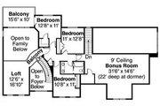 European Style House Plan - 5 Beds 3.5 Baths 3143 Sq/Ft Plan #124-735 Floor Plan - Upper Floor