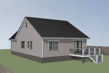 Southern Exterior - Rear Elevation Plan #79-161