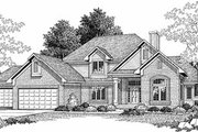 Traditional Style House Plan - 3 Beds 2.5 Baths 2614 Sq/Ft Plan #70-419 Exterior - Front Elevation