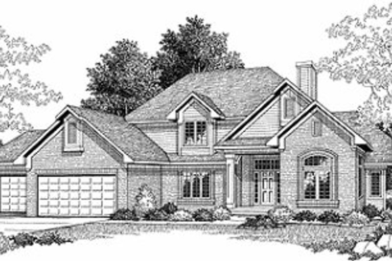 Traditional Exterior - Front Elevation Plan #70-419