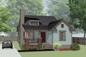Cottage Exterior - Front Elevation Plan #79-139