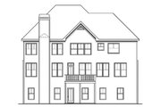 Traditional Style House Plan - 4 Beds 4 Baths 3701 Sq/Ft Plan #419-193 Exterior - Rear Elevation