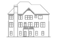 Dream House Plan - Traditional Exterior - Rear Elevation Plan #419-193