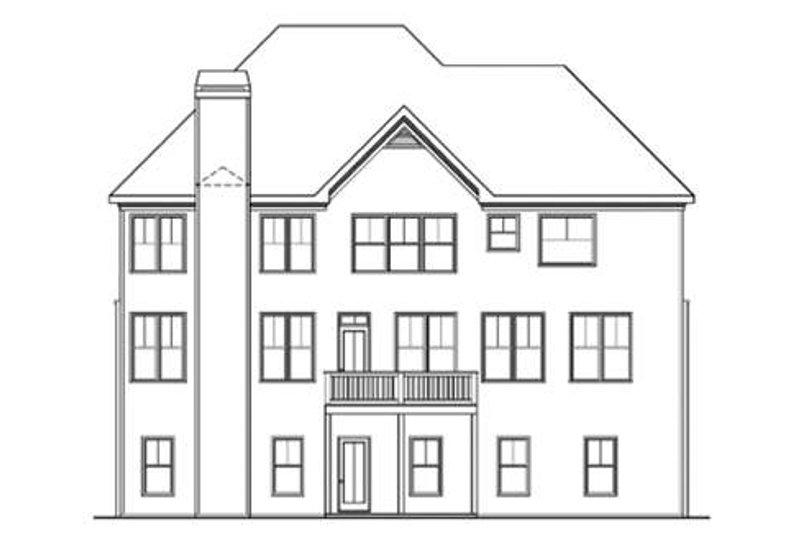 Traditional Exterior - Rear Elevation Plan #419-193 - Houseplans.com