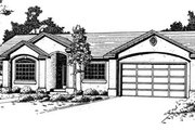 Adobe / Southwestern Style House Plan - 6 Beds 3 Baths 3374 Sq/Ft Plan #24-118 Exterior - Front Elevation