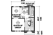 Country Style House Plan - 3 Beds 1 Baths 1264 Sq/Ft Plan #25-4728 Floor Plan - Main Floor Plan