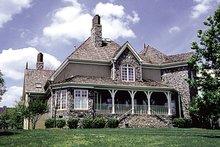 House Plan Design - European Exterior - Rear Elevation Plan #453-36