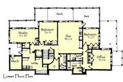 Craftsman Style House Plan - 4 Beds 3.5 Baths 4418 Sq/Ft Plan #921-15 Floor Plan - Lower Floor Plan
