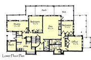 Craftsman Style House Plan - 4 Beds 3.5 Baths 4418 Sq/Ft Plan #921-15 Floor Plan - Lower Floor Plan