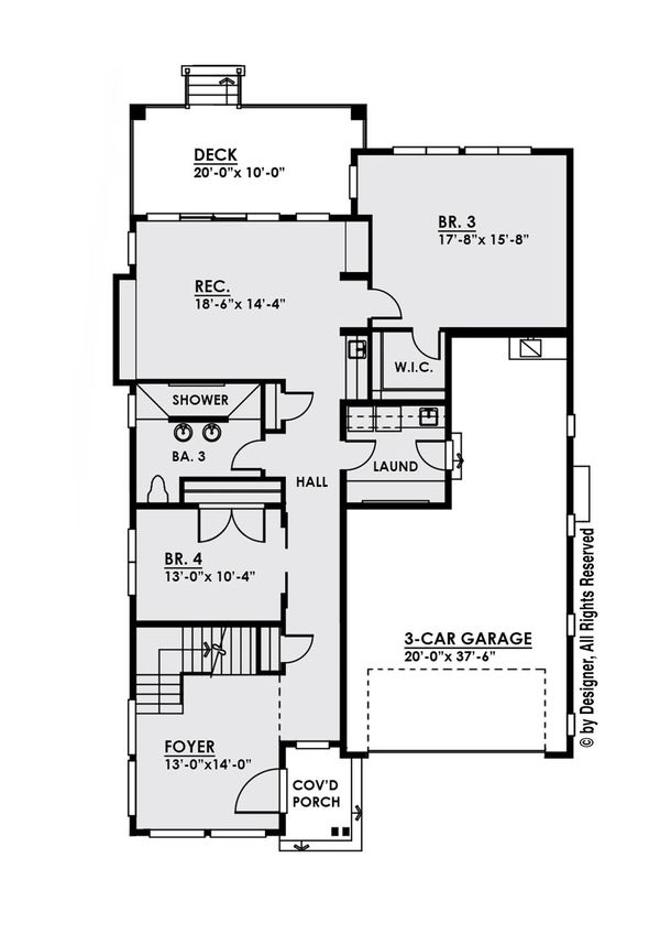 Modern Floor Plan - Main Floor Plan Plan #1066-10