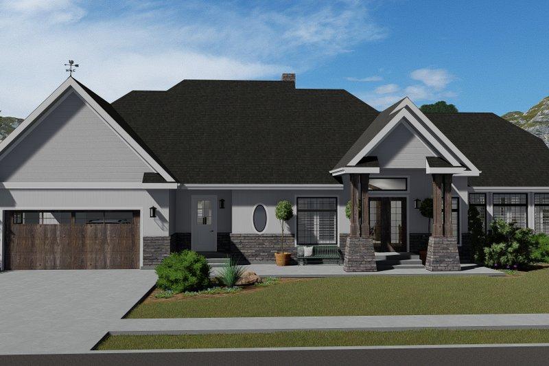 Dream House Plan - European Exterior - Front Elevation Plan #1060-75