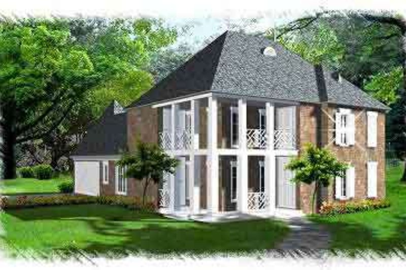 Southern Exterior - Front Elevation Plan #15-288 - Houseplans.com