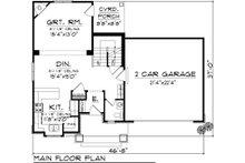 Traditional Floor Plan - Main Floor Plan Plan #70-1068