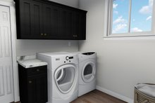 Ranch Interior - Laundry Plan #1060-40