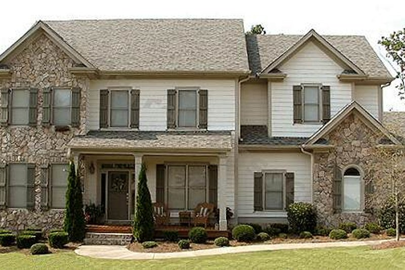 Dream House Plan - Traditional Exterior - Front Elevation Plan #54-134
