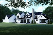 Farmhouse Style House Plan - 4 Beds 3.5 Baths 3310 Sq/Ft Plan #923-117 Exterior - Rear Elevation