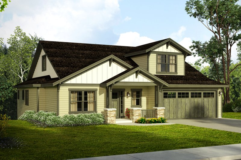 Craftsman Style House Plan - 3 Beds 2.5 Baths 2537 Sq/Ft Plan #124-1020 Exterior - Front Elevation