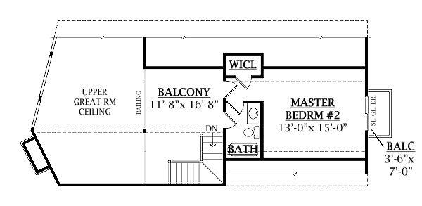 Log Floor Plan - Upper Floor Plan #456-3