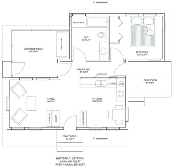 Modern Floor Plan - Main Floor Plan Plan #486-2