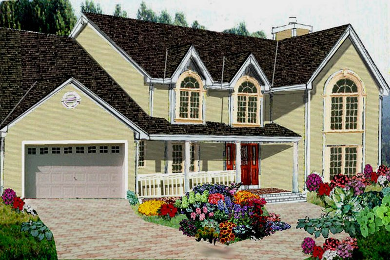 Dream House Plan - Country Exterior - Front Elevation Plan #3-233