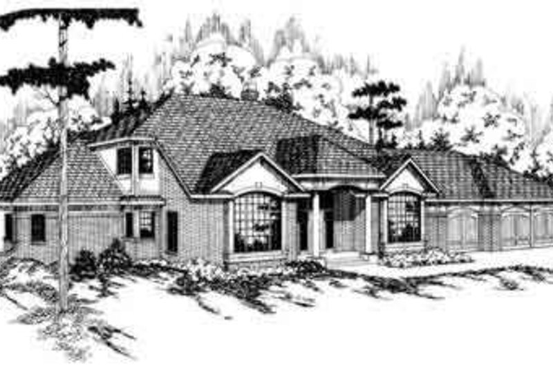 Exterior - Front Elevation Plan #124-124 - Houseplans.com
