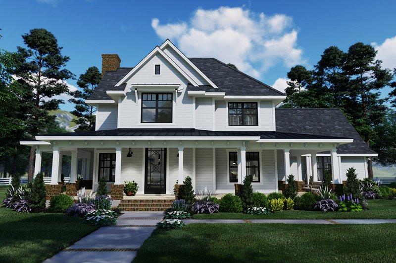 Architectural House Design - Farmhouse Exterior - Front Elevation Plan #120-261