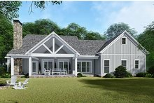 Country Exterior - Rear Elevation Plan #923-132