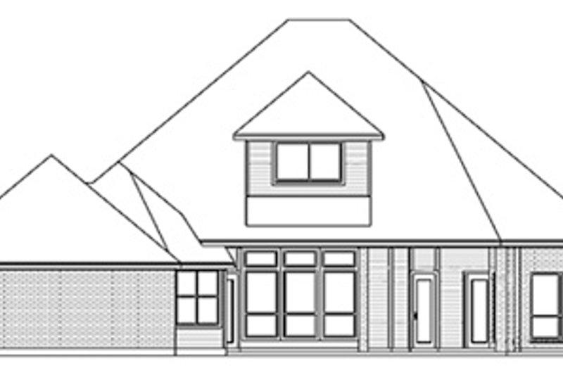 European Exterior - Rear Elevation Plan #84-253 - Houseplans.com
