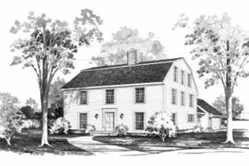 House Blueprint - Colonial Exterior - Front Elevation Plan #72-369