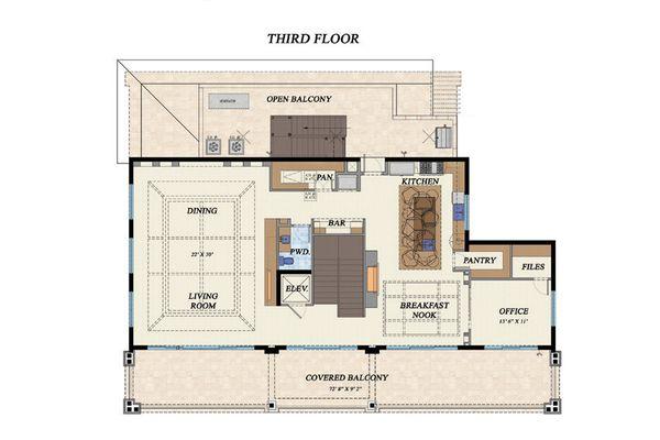 Beach Floor Plan - Upper Floor Plan #548-12