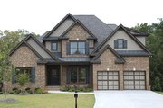 Traditional Style House Plan - 3 Beds 2.5 Baths 2276 Sq/Ft Plan #419-110 Exterior - Front Elevation