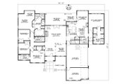 European Style House Plan - 5 Beds 4 Baths 3003 Sq/Ft Plan #17-207 Floor Plan - Main Floor