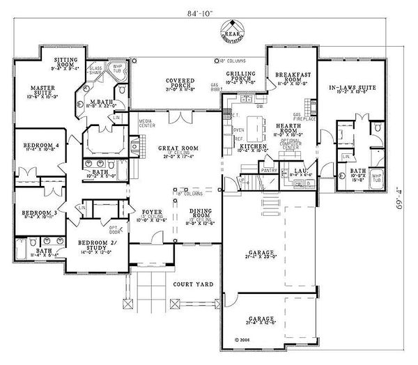 European Floor Plan - Main Floor Plan #17-207