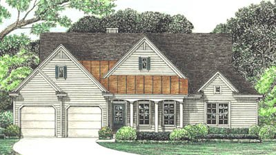 Country Style House Plan - 3 Beds 2 Baths 1926 Sq/Ft Plan #20-624 Exterior - Front Elevation