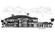 Mediterranean Style House Plan - 7 Beds 9.5 Baths 11027 Sq/Ft Plan #420-200 Exterior - Rear Elevation