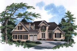 Architectural House Design - European Exterior - Front Elevation Plan #41-152