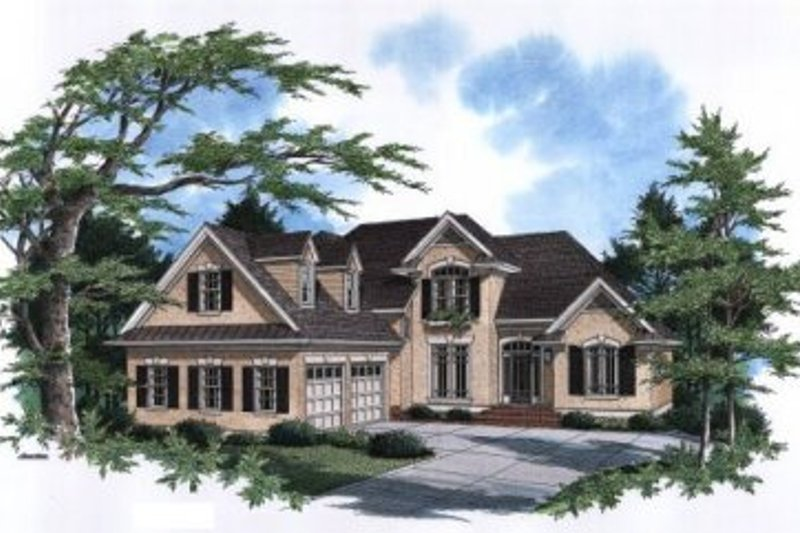 European Exterior - Front Elevation Plan #41-152