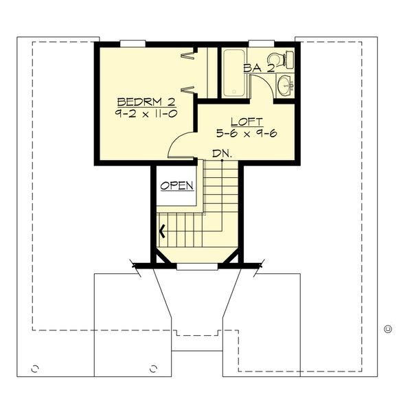 Traditional Floor Plan - Upper Floor Plan #132-220