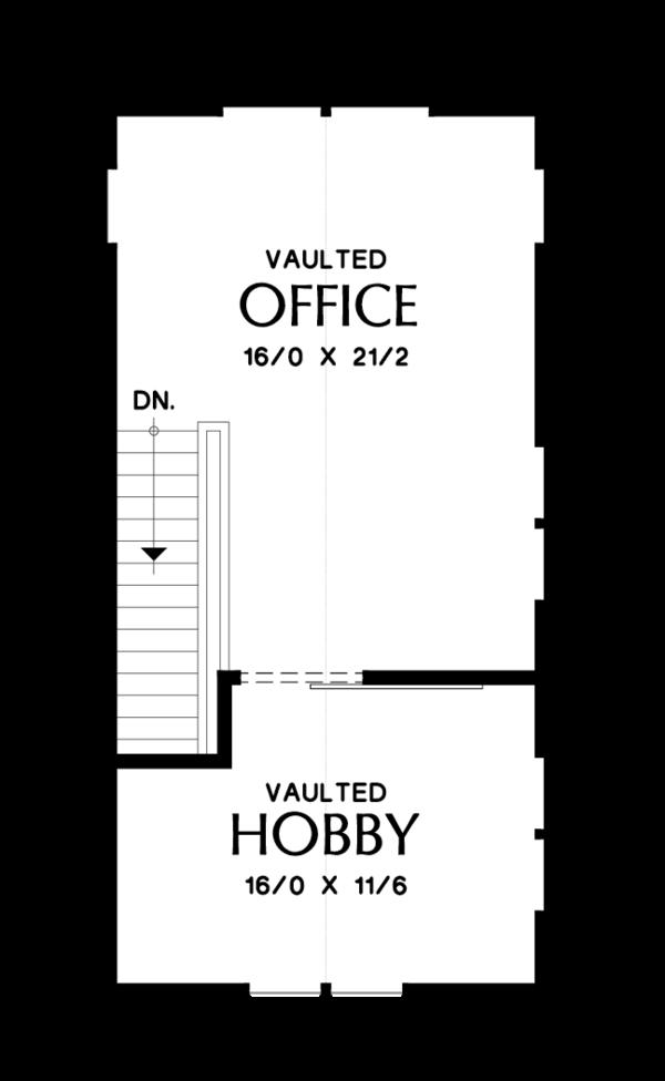 Modern Floor Plan - Upper Floor Plan Plan #48-694