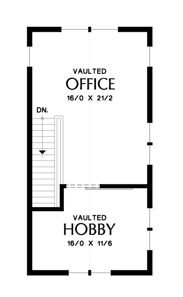 Modern Floor Plan - Upper Floor Plan Plan #48-694