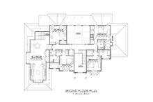 Traditional Floor Plan - Upper Floor Plan Plan #1054-57