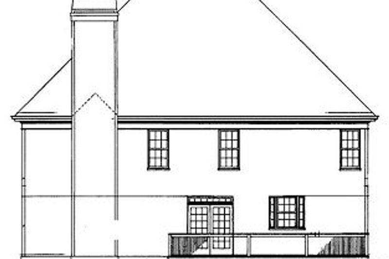 European Exterior - Rear Elevation Plan #119-290 - Houseplans.com