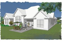 Dream House Plan - European Exterior - Rear Elevation Plan #48-475