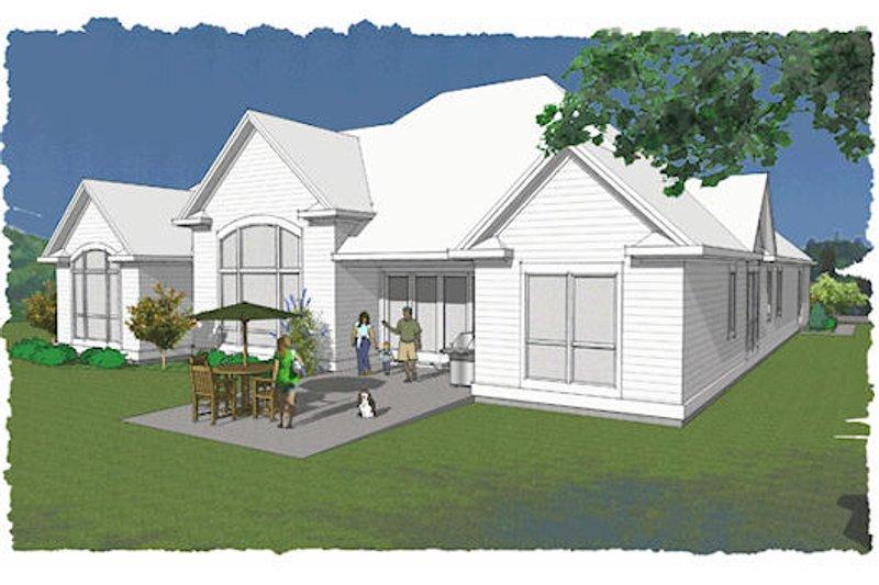 European Exterior - Rear Elevation Plan #48-475 - Houseplans.com
