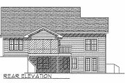 Traditional Style House Plan - 2 Beds 1.5 Baths 1356 Sq/Ft Plan #70-116 Exterior - Rear Elevation