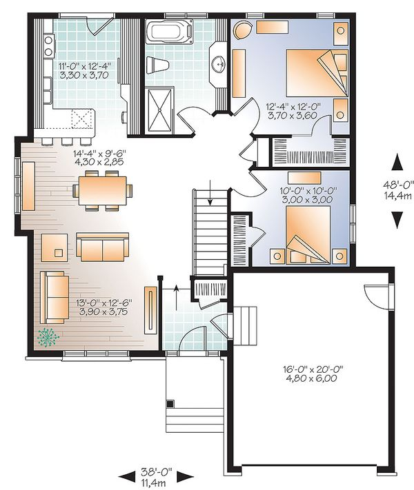 House Plan Design - Ranch Floor Plan - Main Floor Plan #23-2621