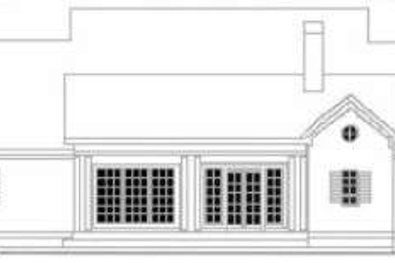 Colonial Exterior - Rear Elevation Plan #406-273 - Houseplans.com